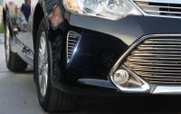 Toyota Camry 2015-2017 v50 Хромированные накладки на воздухозаборники бампера