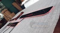 "Mitsubishi Lancer 10 X 2007-2015 Накладки на пороги Premium Line ""Ralli art"""