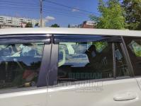 Toyota Land Cruiser Prado 150 2010-2020 Оригинальные Дефлекторы окон, Ветровики с хромированным молдингом