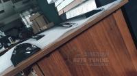 Mitsubishi Outlander 2013+ Оригинальные Дефлекторы окон, Ветровики с хромированным молдингом