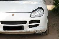 Porsche Cayenne 2002-2010 Накладки на передние фары (Реснички)