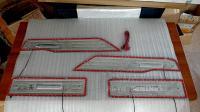 Toyota Alphard 2008-2014 накладки на пороги с подсветкой