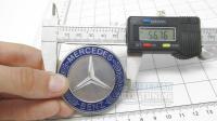 Эмблема Mercedes-Benz синий на капот 56 мм с защелкой