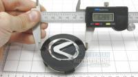 Ступичные колпачки заглушки на диски ЦО Lexus серые 62/56/17 мм (Цена за 4шт)