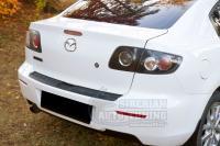 Mazda 3 2003-2008 г.в седан накладка на задний бампер с загибом Мазда 3