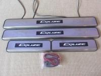 Светодиодные накладки на пороги Chevrolet Cruze 2008 - 2014 (J300)