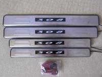 Светодиодные накладки на пороги Peugeot 308 2007 - 2011