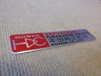 Алюминиевый Шильдик с клеевой основой Honda GP для автомобилей Honda
