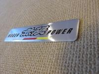 Алюминиевый Шильдик с клеевой основой Mugen Power для автомобилей Honda 120х27мм