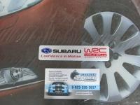 Алюминиевый Шильдик с клеевой основой WRC для автомобилей Subaru