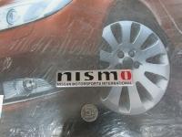 Алюминиевый Шильдик с клеевой основой Nismo Nissan 120*26 мм