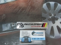 Алюминиевый Шильдик с клеевой основой MazdaSpeed для автомобилей Mazda (3)