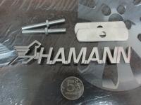 Эмблема алюминиевая для решетки радиатора Hamann для автомобилей BMW и Mercedes-Benz