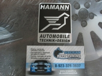 Алюминиевый Шильдик с клеевой основой Hamann для автомобилей Mercedes-Benz / BMW 3