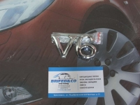 Эмблема алюминиевая для решетки радиатора V6
