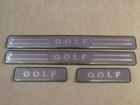 Накладки на пороги Volkswagen Golf 6, Golf 7. 2008 - н.в.