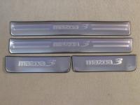 Накладки на пороги Mazda 3 2009-2013