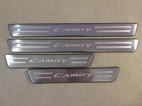 Накладки на пороги Toyota Camry 2012-2015