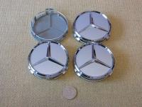 Ступичные колпачки для автомобилей  Mercedes-benz белые