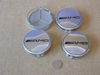 Ступичные колпачки AMG белые для автомобилей  Mercedes-benz