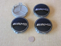 Ступичные колпачки AMG черные для автомобилей  Mercedes-benz
