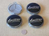 Ступичные колпачки Lorinser черные для автомобилей  Mercedes-benz
