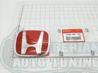 Красная эмблема H 123x99 мм для автомобилей Honda 75700-S5T-E01
