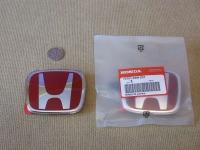 Красная эмблема H 86x70 мм для автомобилей Honda 75701-S6M-Z01