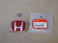 Красная эмблема H 80x65 мм для автомобилей Honda 75701-S1A-E11ZB