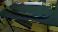 Спойлер Lip на кромку багажника пустотелый на Toyota Camry V50