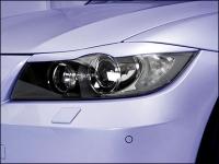 Реснички на фары BMW E90 под линзованную оптику
