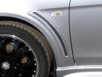 Жабры в передние крылья EVO style на Mitsubishi Lancer 10 X 2007-2015