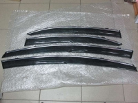 Дефлекторы окон, ветровики с хром полоской на Honda Civic 4D 8