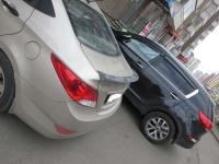 Лип Спойлер на кромку багажника Hyundai Solaris 2010-2014