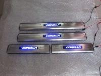 Светодиодные накладки на пороги Toyota Corolla 2013-2015