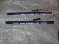 Накладки на пороги Premium Line для Toyota Land Cruiser LC200 2007-2015
