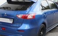 Реснички на задние фонари Mitsubishi Lancer X Sportback 2008-