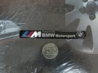 Алюминиевый Шильдик с клеевой основой Motorsport для автомобилей BMW 107х13мм
