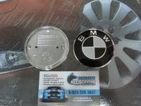 Эмблема на капот и багажник для BMW чер. 74 мм