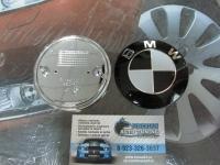 Эмблема на капот и багажник для BMW чер.