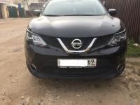 Накладки на передние фары реснички Nissan Qashqai 2014+