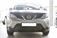 Защитная сетка и заглушка переднего бампера Nissan Qashqai 2014-