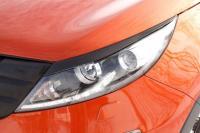 Накладки на передние фары реснички Kia Sportage 2010 - 2015