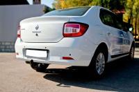 накладки на задние фонари реснички для Renault Logan 2014+