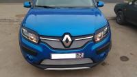 Накладки на передние фары реснички Renault Sandero 2014+