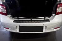 Накладка на задний бампер Renault Logan 2014+