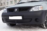 Защитная сетка и заглушка Защитная сетка и заглушка переднего бампера Renault Logan 2004-2010