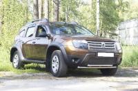 Защитная сетка и заглушка переднего бампера (без дхо и без обвеса) Renault Duster 2010-2014