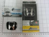 Черная эмблема J'S Racing Type R для Honda в руль (тип B) 50x40 мм