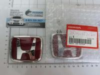 Красная эмблема H 74x61 мм для автомобилей Honda 75701-ST7-Z00